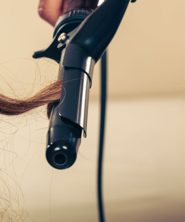 curling iron for human hair wigs